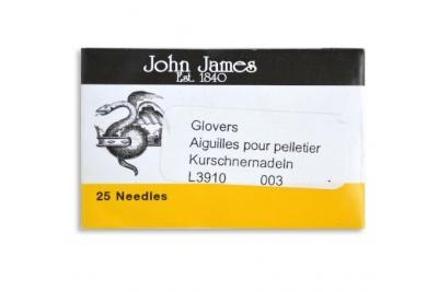 Иглы для кожи и меха ручные John James №003/005 (набор 25 шт.)
