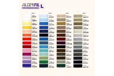 Цветовая карта ALTERFIL L 180/240