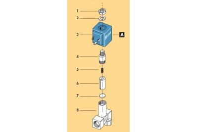 Электроклапан прямой 1/4' CEME