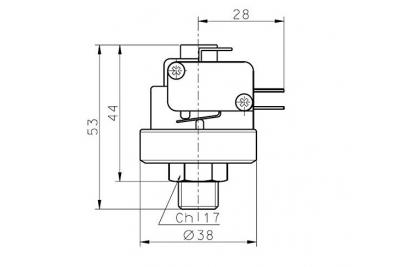 """Датчик давления 1/4"""" XP200M"""