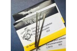 Голки для шкіри і хутра ручні John James №003/005 (набір 25 шт.)