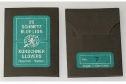 Иглы для кожи ручные Schmetz №7 (набор 25 шт.)