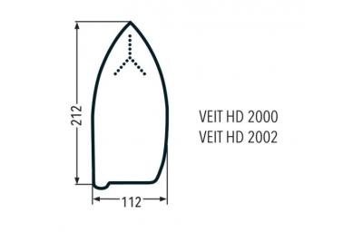 Тефлоновая подошва Veit HD2000 / Rotondi 289